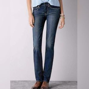 American Eagle Straight Super Stretch Jeans, 0